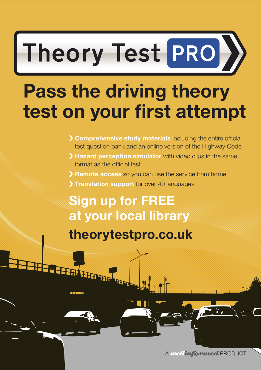 New posters for Libraries   Theory Test Pro