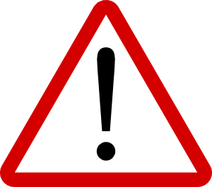 warning sign with exclamation mark